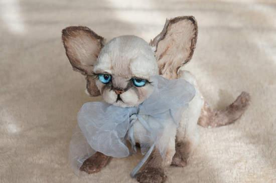 Devon Rex Cat Named Bethany By Tsybina Natali Bear Pile